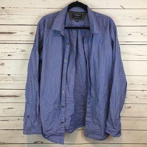 Blue American Eagle Slim Fit Button Down Shirt